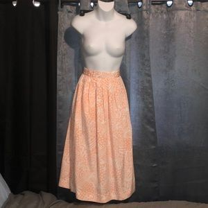 Vintage Peach 🍑 & White Maxi Skirt